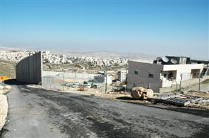 Security barrier separating Shuafat from Pisgat Zeev